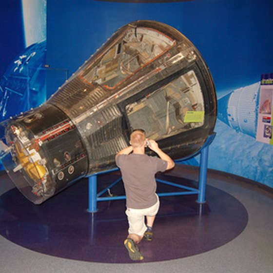 The Houston Space Center features tours and exhibits.