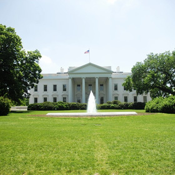 The White House, one of Washington's most popular sights