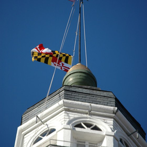 The State House in Annapolis is Maryland's seat of government.