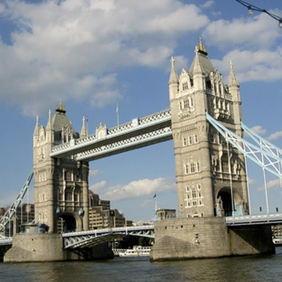 London's Tower Bridge is part of many tours of the British Isles.