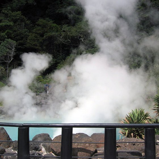 Hot springs the world over, like these in Japan, offer rejuvenating waters thought to have healing qualities.