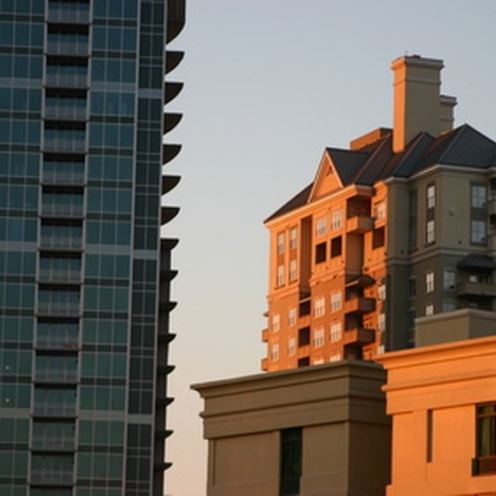 The contemporary meets the historical in downtown Atlanta.