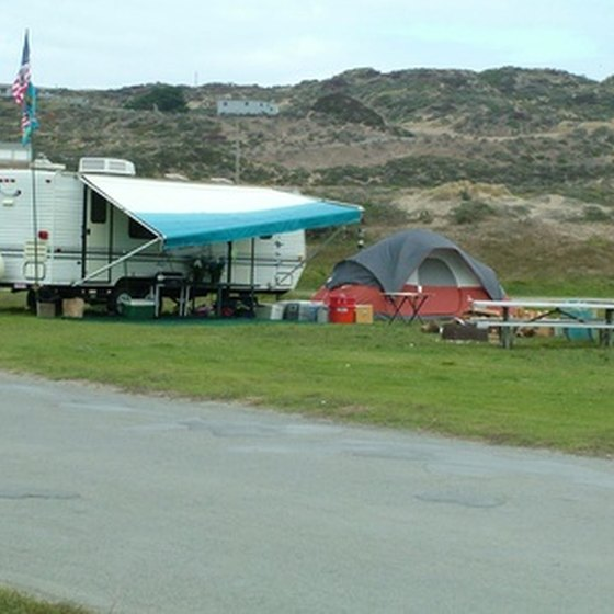 RV campsites are available in many of New Jersey State Parks.