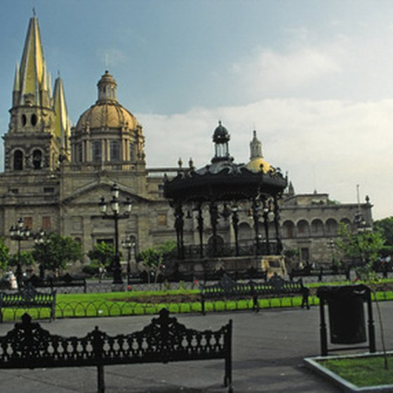 The Cathedral overlooks the Main Plaza in historic downtown Guadalajara.