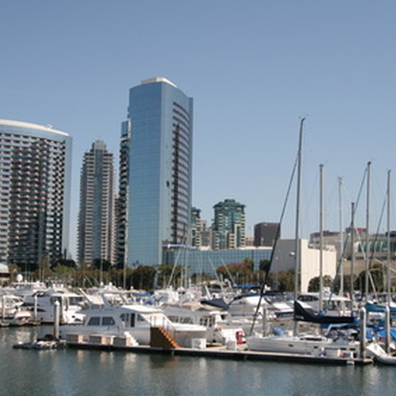 Find attractions at the San Diego Harbor.