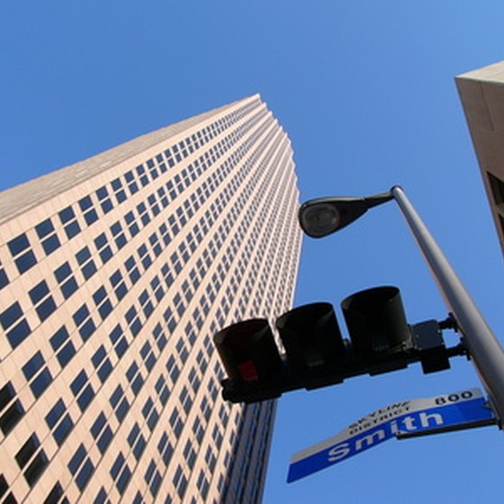Downtown Houston boasts numerous tourist attractions.