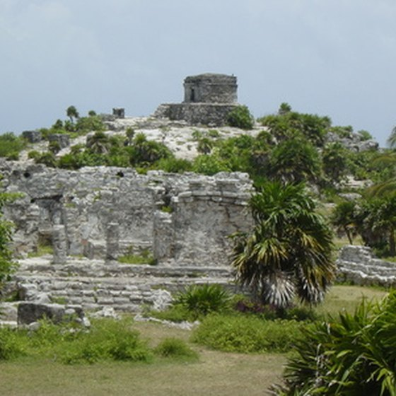 The Mayan ruins of Tulum are a popular excursion inland from cruise ports in Cozumel, Mexico.