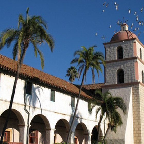 The Santa Barbara Mission is an interesting historic attraction between Los Angeles and San Francisco.