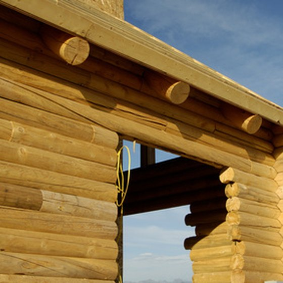Log home construction is one of many topics at Idaho home shows.