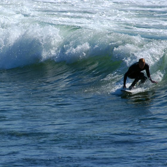 The Doheny State Beach campground is steps away from world-class surfing.