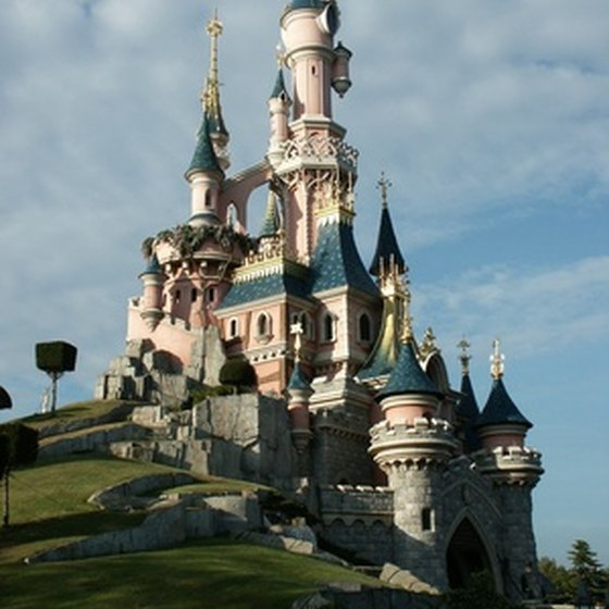 The famous Disneyland castle is an icon for this world-famous theme park.