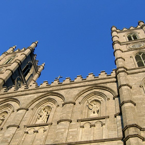 The Notre-Dame Basilica in Montreal is reminiscent of Paris.