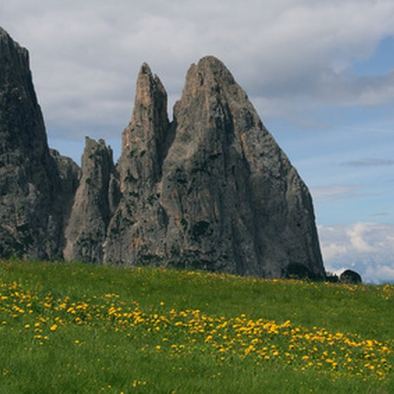 Frommer's recommends driving past the Dolomite Mountains.