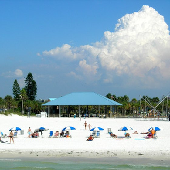 Clearwater's white sand beaches are just outside the city of Tampa.