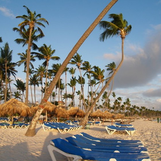 A resort's beachfront in the Dominican Republic