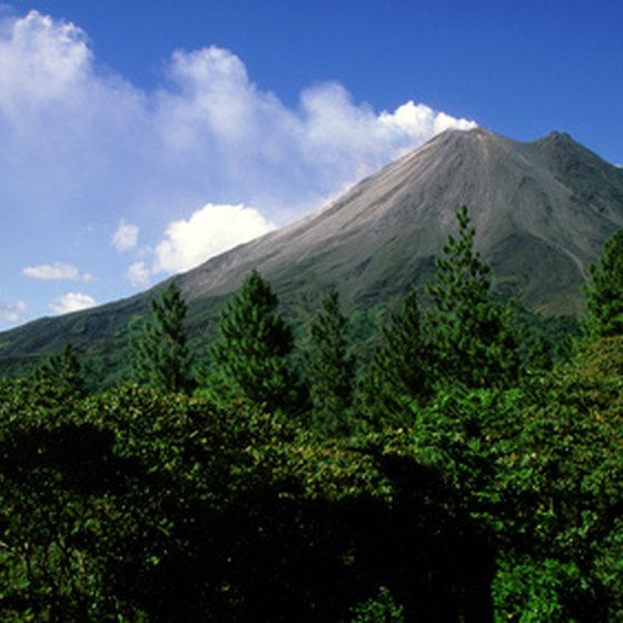 Arenal Volcano is constantly erupting with mini-explosions of lava and steam.
