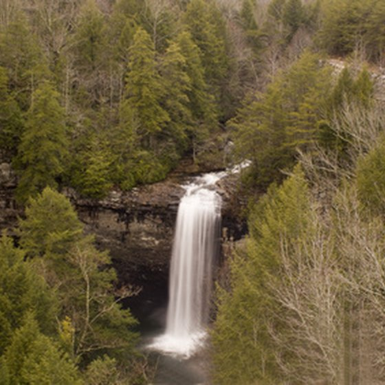 Waterfalls are abundant in the North Georgia mountains.