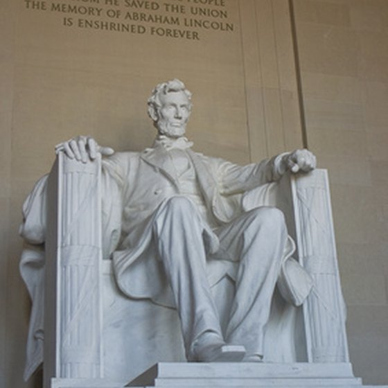 The Lincoln Memorial is a popular stop on bus tours.