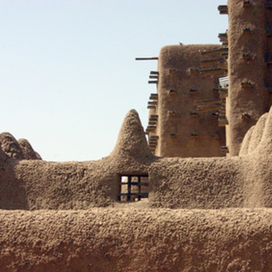 A traditional mud mosque in Sudan.