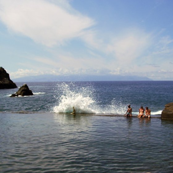 Swim off the coast in Tenerife.