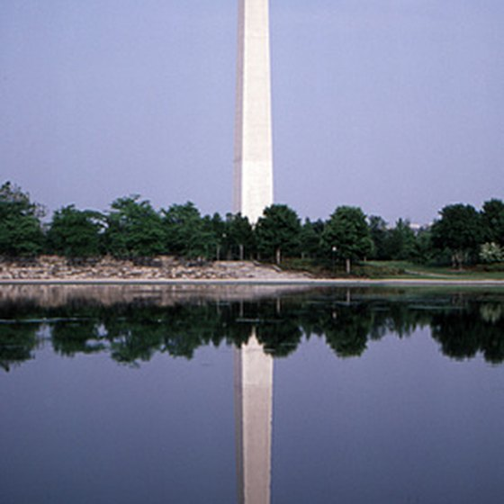 The Washington Monument sits at the top of the list of D.C. memorials.