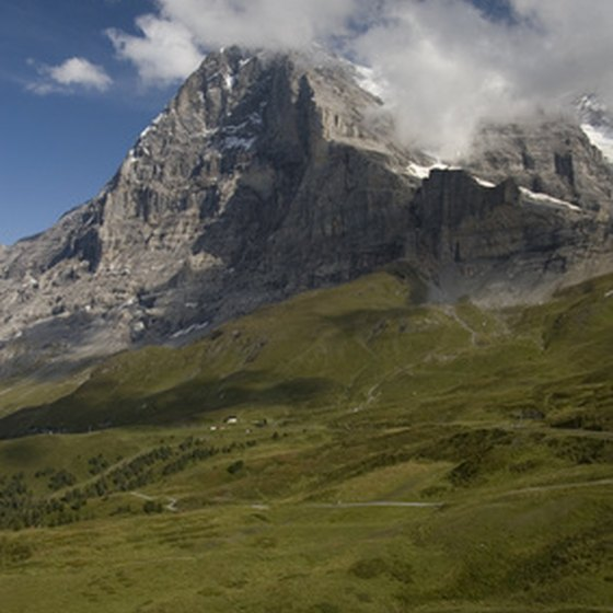 The Eiger is one of the attractions of Swiss hiking.