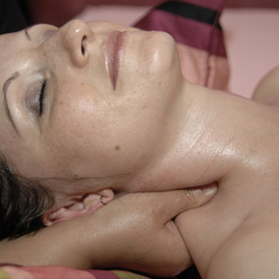 A soothing massage helps relieve stress.