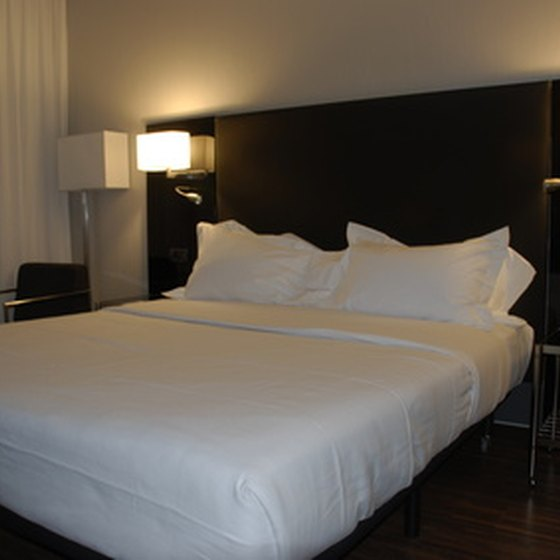 Luxury hotels typically offer comfortable beds.