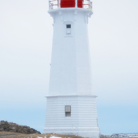 Lighthouses are a common sight along the shores of Nova Scotia.