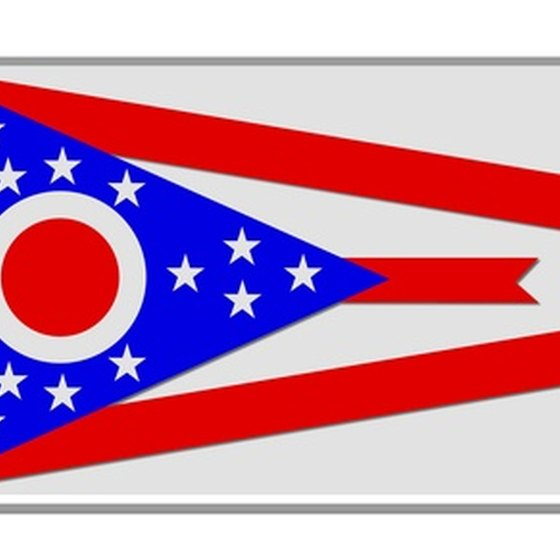 The Ohio state flag.
