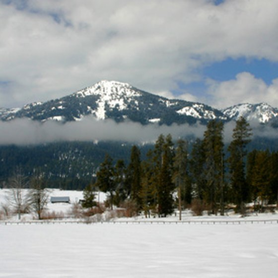 Mountain ranges dominate northern Idaho.