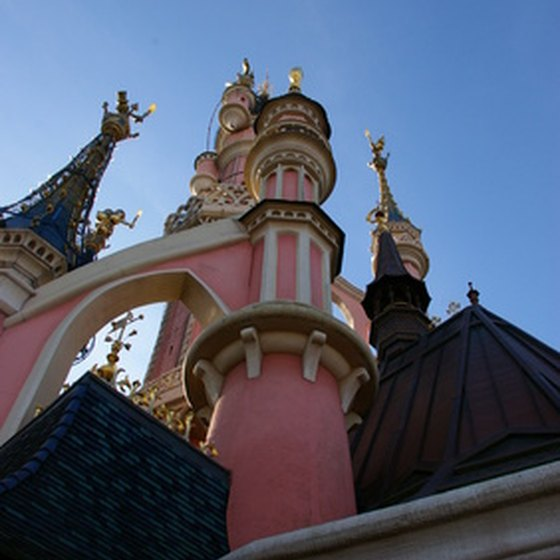 Check out Cinderella's Castle at the Magic Kingdom.