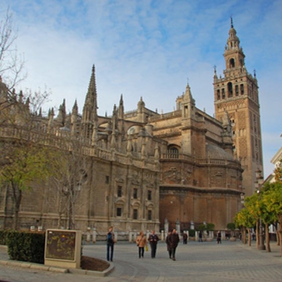 La Giralda Tower looms over the Cathedral in Seville.