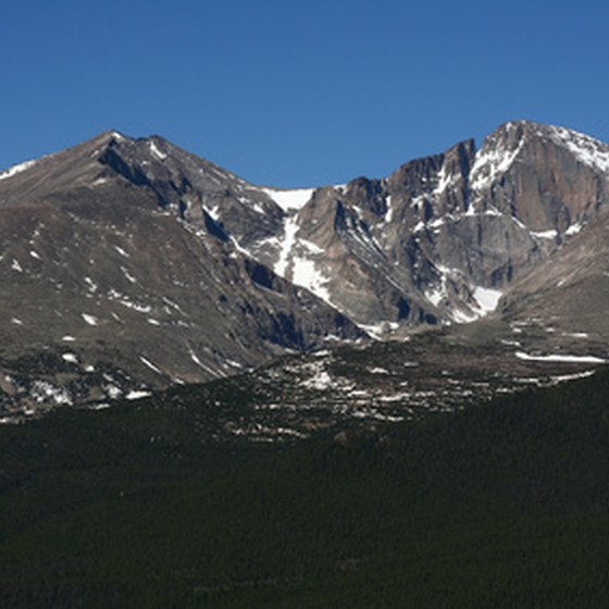 Mt. Meeker and Longs Peak are visible from Estes Park.