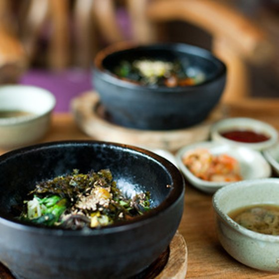 Bibimbap is a tasty, popular Korean dish.