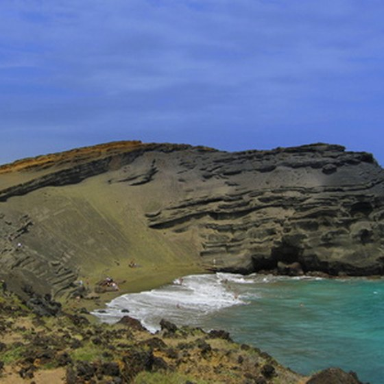 Green Sands Beach at the southern end of the Big Island