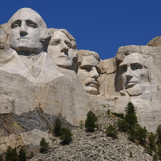 Mount Rushmore is less than an hour from Rapid City, South Dakota.