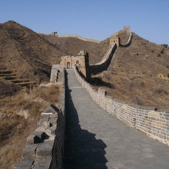 The Great Wall of China testifies to hundreds of years of wars in China.