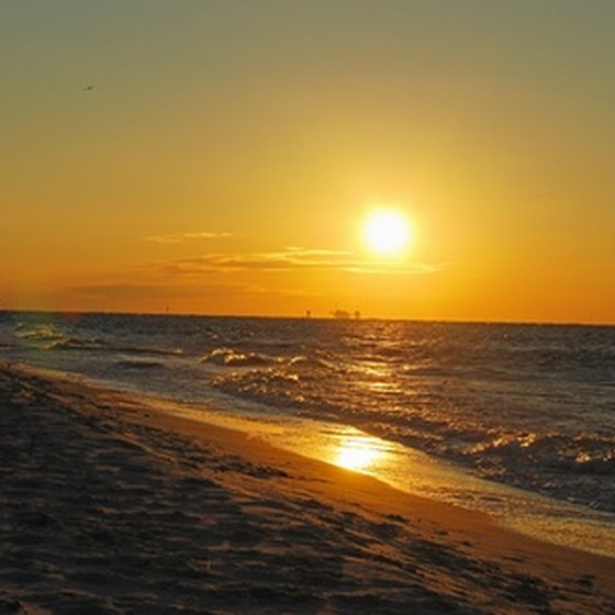 Gulf Shores at sunset.