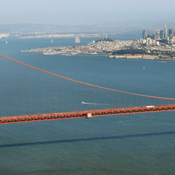San Francisco is famous for its Golden Gate Bridge.