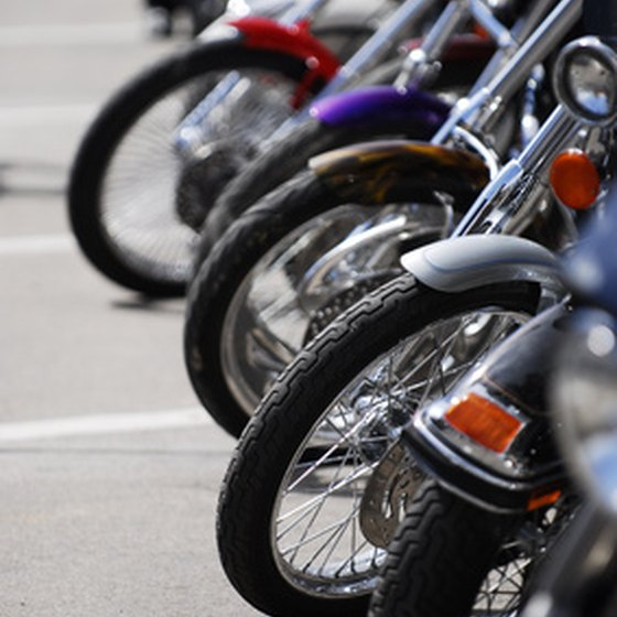 The annual Sturgis Motorcycle Rally draws bikers from all over the United States.