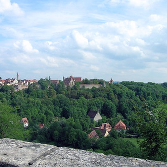 The medieval village of Rothenburg is a popular tourist destination in Germany.