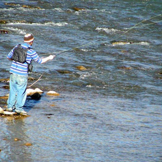 Fly fishing is very popular in Idaho.