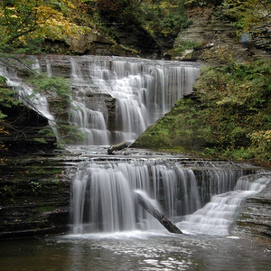Beautiful waterfalls are a common sight in the Catskill Mountains.