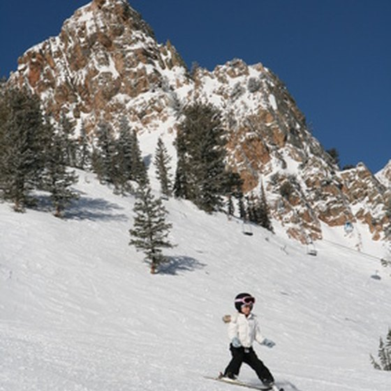 Young skiers will love the big mountains and great powder of Utah.