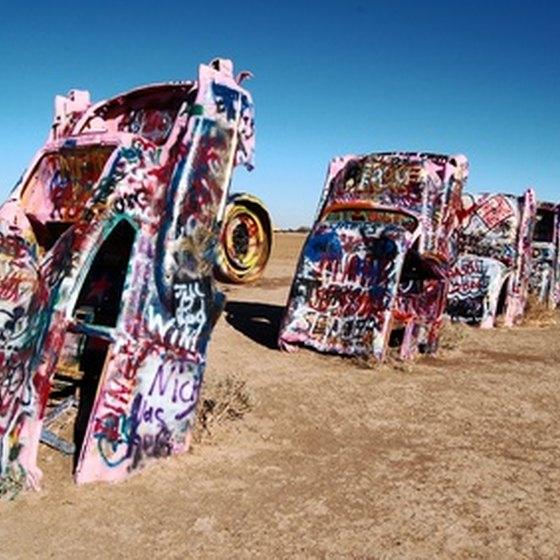 Cadillac Ranch is west of Amarillo