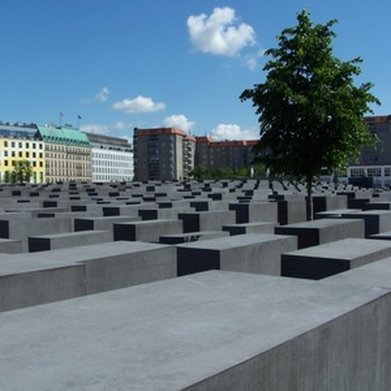 The concrete slabs of the Holocaust Memorial in Berlin.