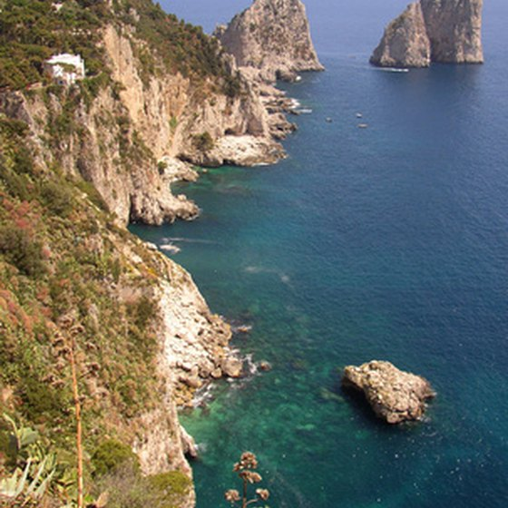 The coast of Capri is a warm winter destination