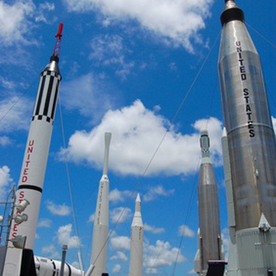 The Rocket Garden at Kennedy Space Center's Visitor Complex