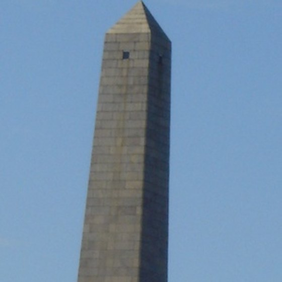 The Bunker Hill Monument is taller than many of Boston's skyscrapers but lacks an elevator.